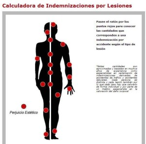 Calculadora indemnizaciones accidentes